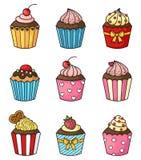 Cupcake set vector Stock Photos