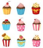 Cupcake set vector Royalty Free Stock Photography
