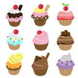 Cupcake set Stock Photography