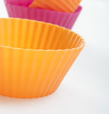 Cupcake silicon close up Royalty Free Stock Photo