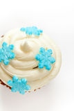 Cupcake with snowflakes Stock Photo