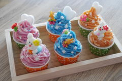 Cupcake soap Stock Photos