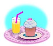 Cupcake and Soda Stock Photos