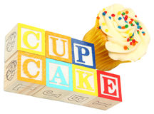 Cupcake Spelled Out Stock Image