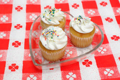 Cupcake With Sprinkles Royalty Free Stock Image
