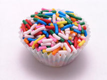 Cupcake with sprinkles Royalty Free Stock Photos