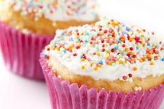 Cupcake with Sprinkles Stock Photos