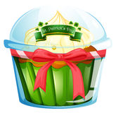 A cupcake for St. Patrick's day Royalty Free Stock Images