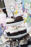 Cupcake Stand At A Baby Shower Royalty Free Stock Image