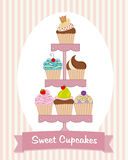 Cupcake Stand Stock Image