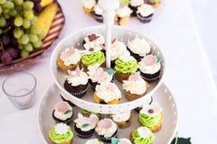 Cupcake stand Stock Photo