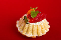Cupcake with strawberry Royalty Free Stock Images
