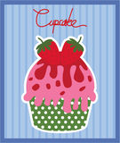 Cupcake Strawberry Vector Royalty Free Stock Photography