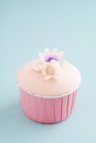 Cupcake with sugarflowers Stock Photo