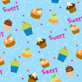 Cupcake sweet cute cartoon Gift Wrapping design Vector Royalty Free Stock Photography