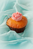 Cupcake with swirls of creamy Stock Photo