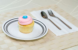 Cupcake on the table Stock Image