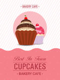 Cupcake Template, Banner or Flyer design. Stock Images