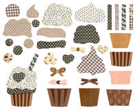Cupcake templates. Stock Photos