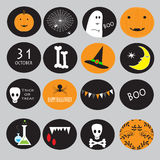 Cupcake toppers for Halloween Royalty Free Stock Photo
