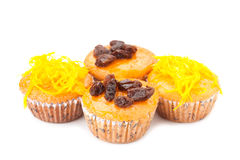 Cupcake with topping Stock Photography