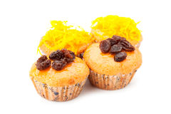 Cupcake with topping Royalty Free Stock Images
