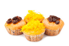 Cupcake with topping Royalty Free Stock Photo