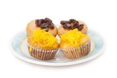 Cupcake with topping Stock Images
