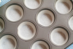 Cupcake tray Stock Photo