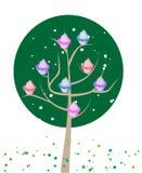 Cupcake tree. Cute pink cupcakes on a tree.vector illustration stock illustration
