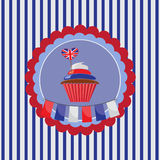 cupcake in UK traditional colors Stock Photography