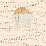 Cupcake valentine card. EPS 8 Royalty Free Stock Photo