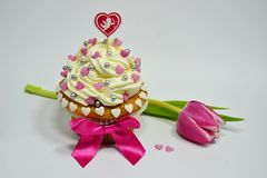Cupcake   Valentine's  Day Royalty Free Stock Photography