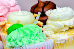 Cupcake variety Stock Photography