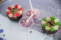 Cupcake variety of different Royalty Free Stock Photos