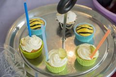 Cupcake variety of different Stock Photography