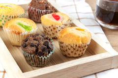 Cupcake various flavors Stock Images