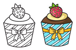 Cupcake vector Stock Image