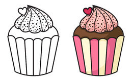 Cupcake vector Royalty Free Stock Image