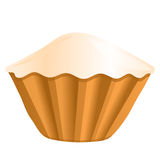 Cupcake, vector illustration Stock Images
