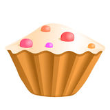 Cupcake, vector illustration Stock Photography