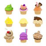 Cupcake vector set Royalty Free Stock Image