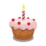 Cupcake vectorillustratie Stock Afbeeldingen
