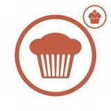 Cupcake vectorpictogram Stock Afbeelding