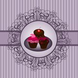 Cupcake vintage 2 stock illustration