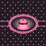 Cupcake vintage 4. Illustration of vintage with sweet cupcake Royalty Free Stock Image