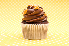 Cupcake on vintage background Royalty Free Stock Photography