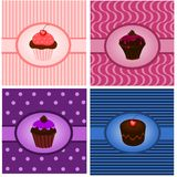 Cupcake vintages royalty free illustration
