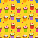 Cupcake wallpaper Royalty Free Stock Photography