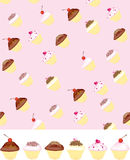 Cupcake wallpaper background Royalty Free Stock Image